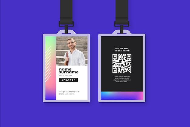 Abstract id cards template