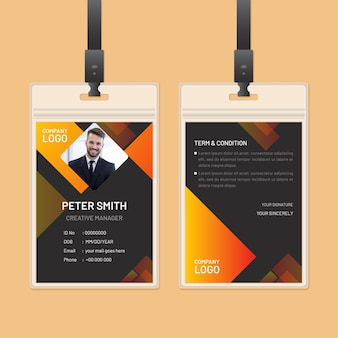 Abstract id cards theme