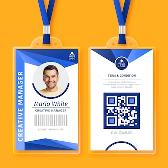 Abstract id cards with photo