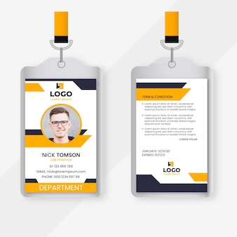 Abstract id cards with picture