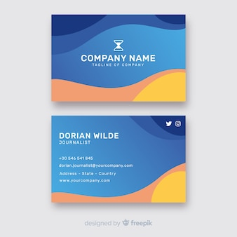 Abstract idea of business card template