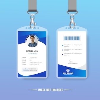 Abstract Identification Card Vector Design