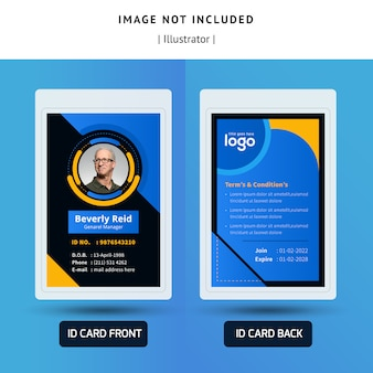 Abstract identification or id card template design for office