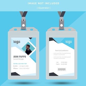 Абстрактная идентификация или дизайн удостоверения личности
