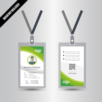 Abstract Identification or id Card Vector Design