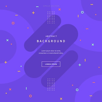 Abstract illustration background with geometric shapes inspired by memphis style