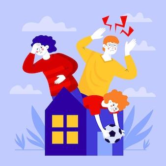 Illustrazione astratta del concetto di febbre di cabina