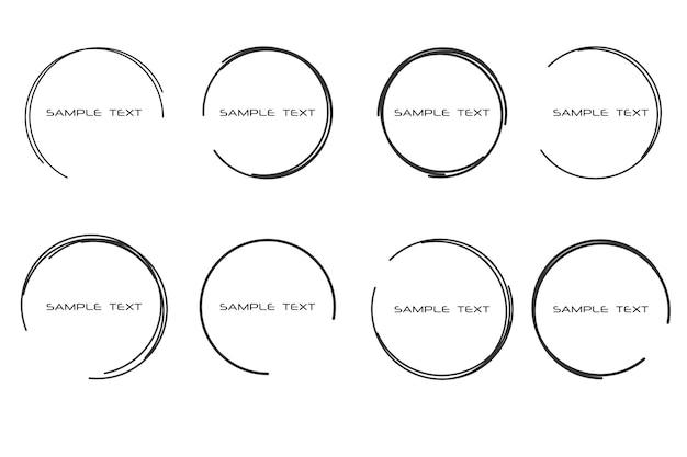 抽象的なイラストテキストの丸いフレームを描いた吹き出し