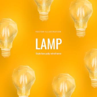Абстрактная иллюстрация лампочки