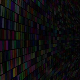 Абстрактная иллюстрация маленьких разноцветных квадратов или пикселей на черном фоне