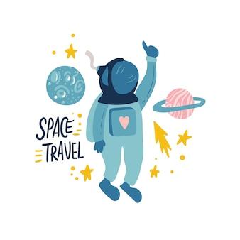 Абстрактная иллюстрация космоса. технология рисованной комиксов