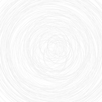 Abstract illustration of various gray circles on white background