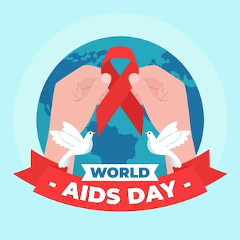 Abstract illustration of world aids day