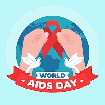 Illustrazione astratta della giornata mondiale contro l'aids