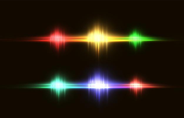 Abstract image of a lighting flash shine
