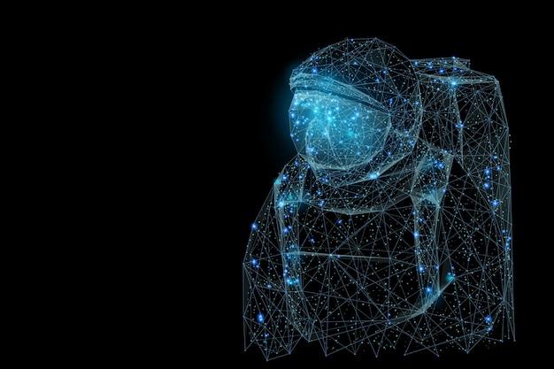 Абстрактный образ космонавта низкой поли