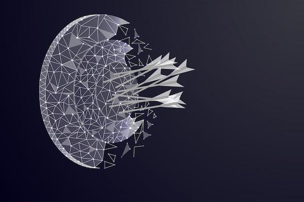 星空の形でターゲットの抽象的なイメージ