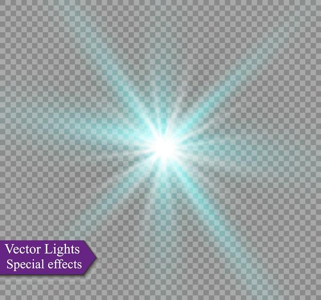 照明フレアの抽象的なイメージ。