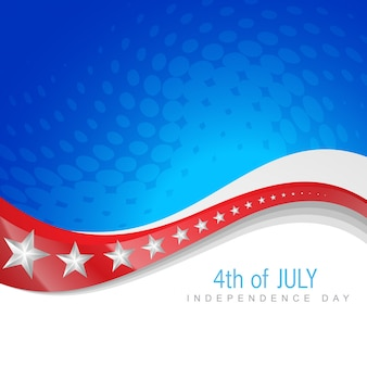 Abstract independence day illustration