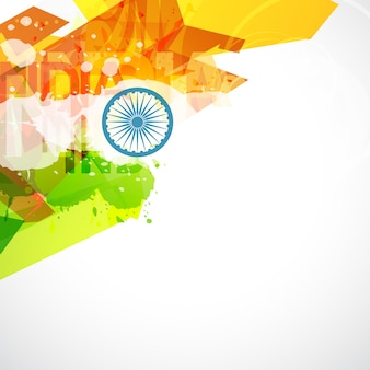 Abstract indian flag design