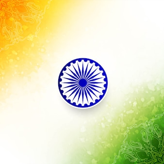 Abstract indian flag style decorative background