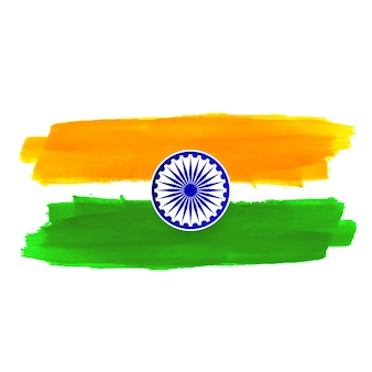 Abstract indian flag theme design background