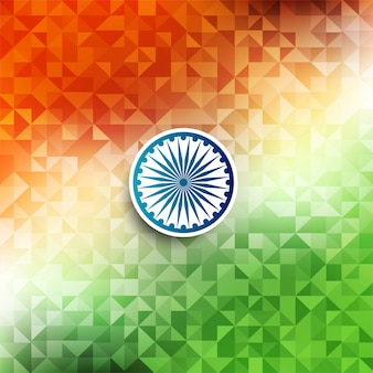 Abstract indian flag theme geometric