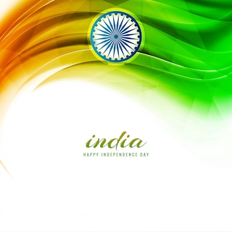 Abstract indian independence day flag background