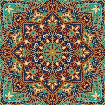 Abstract indian pattern with mandala. vintage beautiful background.