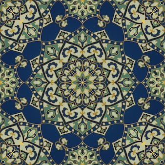 Abstract indian pattern with mandala.