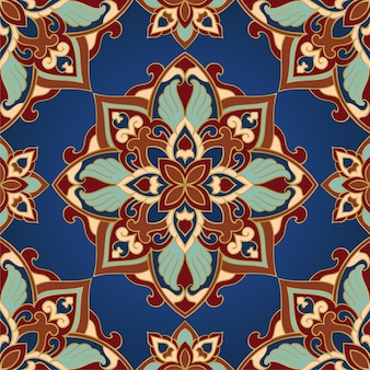 Abstract indian pattern with mandalas.