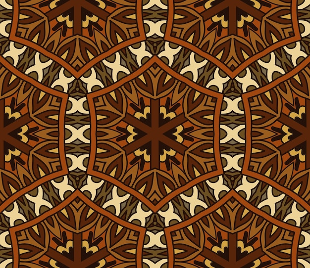 추상 인도 타일 빈티지 민족 원활한 벡터 패턴 장식