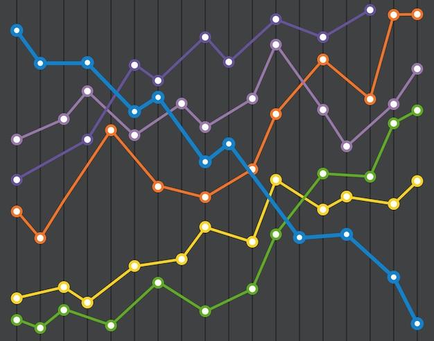 Абстрактные инфографики диаграммы цвета векторные иллюстрации