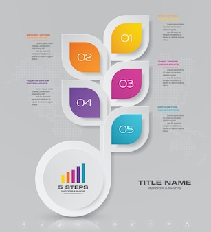Abstract infographic chart design element