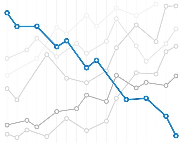Абстрактные инфографики диаграммы векторные иллюстрации. вниз