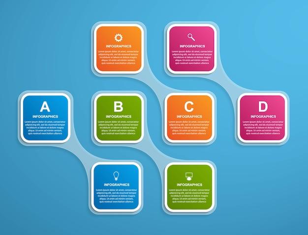 抽象的なインフォグラフィックデザイン要素。