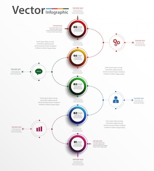 Abstract infographic element for business