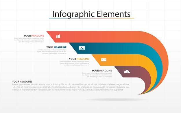 Abstract infographic elements line concept