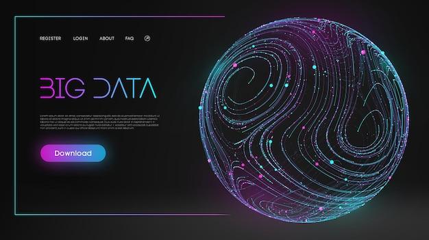 Абстрактная инфографика на пыльно-синем фоне технологии безопасности цифровая волна фон концепции