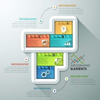 Abstract infographic options template