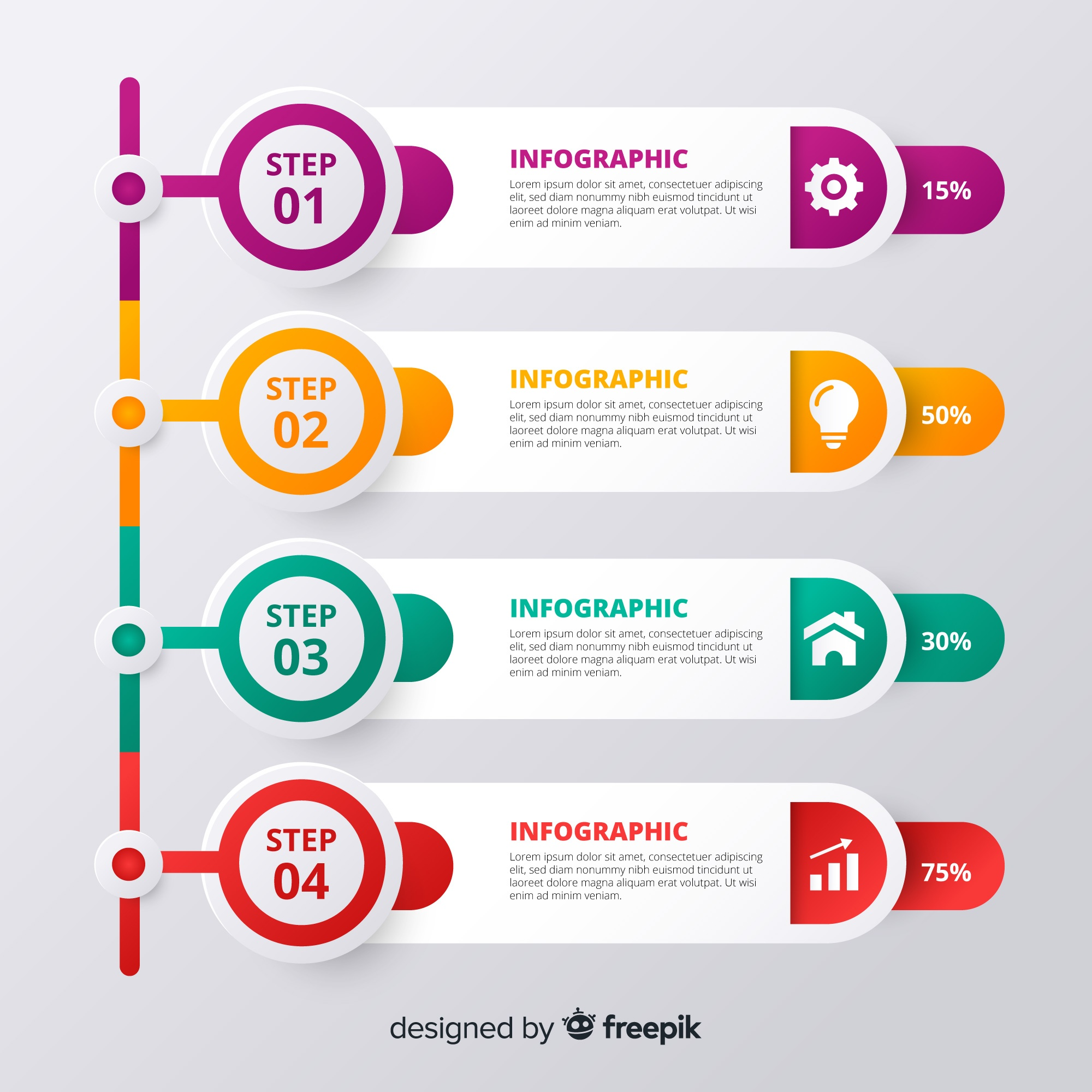 Abstract infographic steps design