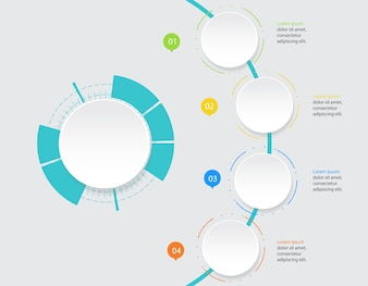 Abstract  infographic template with a four steps