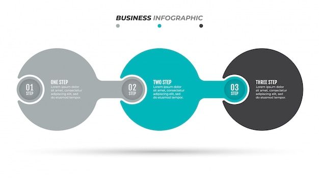 Abstract infographics number option template. timeline with 3 options, steps, processes.
