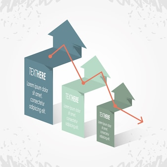 Abstract infographics with arrows sketches