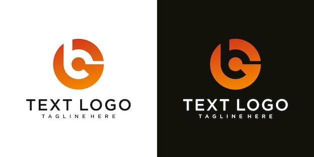 ビジネスのための文字gロゴデザインテンプレート技術アイコンと抽象的な頭文字b