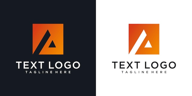 Abstract initial letter a logo design ttechnology icons for business of luxury gradient
