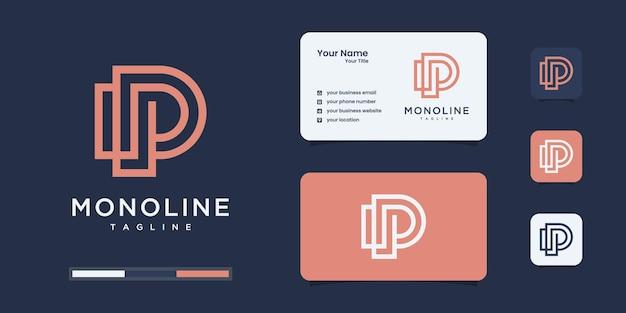추상 초기 편지 p 로고 디자인 서식 파일입니다. 럭셔리 비즈니스 아이콘