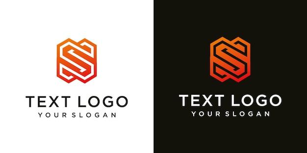 抽象的な頭文字s最小限のロゴデザインテンプレート