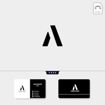 Abstract initial a, logo template and business card design include