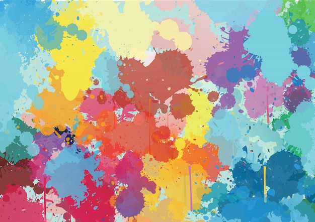 Abstract ink colourful background